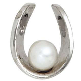Anhänger 925 Sterling Silber rhodiniert 1 Süßwasser Perle Perlenanhänger