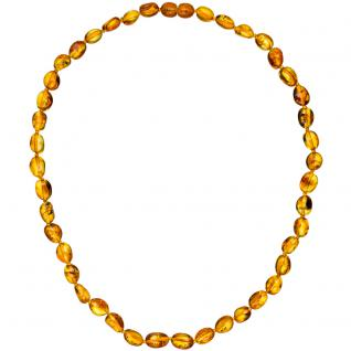 Kette Collier Bernstein Verlauf 45 cm Halskette Bernsteinkette Bernsteincollier - Vorschau