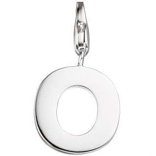 Einhänger Charm Buchstabe O 925 Sterling Silber Anhänger für Bettelarmband - Vorschau