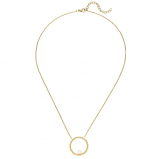 Collier Halskette mit Anhänger Edelstahl gelbgoldfarben beschichtet