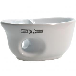 Golddachs Rasiermug weiß Keramik oval mit Eingriff für gute Handhabung