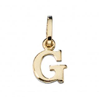 Anhänger Buchstabe G 333 Gold Gelbgold Buchstabenanhänger