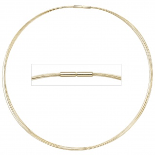 Halsreif 7-reihig 585 Gold Gelbgold 45 cm Goldkette Goldreif