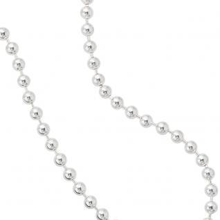 Kugelkette 925 Silber 2, 5 mm 60 cm Halskette Kette Silberkette Karabiner - Vorschau 4