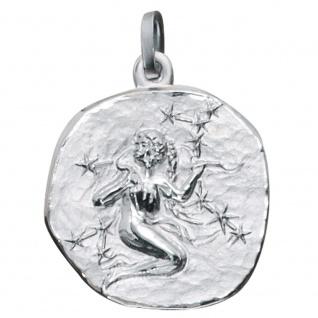 Anhänger Sternzeichen Jungfrau 925 Sterling Silber matt Sternzeichenanhänger