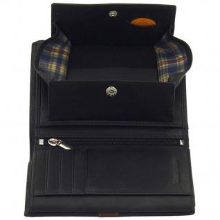 Friedrich Lederwaren Geldbörse Leder schwarz braun RFID Schutz - Vorschau 4