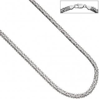 Königskette oval 925 Sterling Silber 45 cm Kette Halskette Silberkette Karabiner