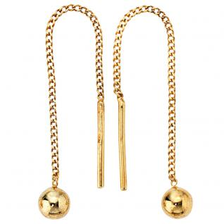 Durchzieh-Ohrhänger 333 Gold Gelbgold Ohrringe zum Durchziehen