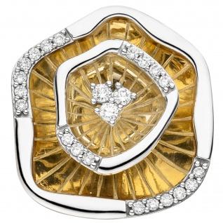 Anhänger 585 Gold Gelbgold bicolor 23 Diamanten Brillanten