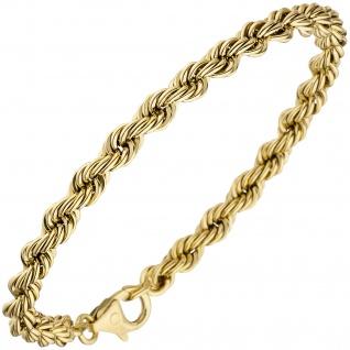 Kordelarmband 585 Gold Gelbgold 3, 2 mm 18, 5 cm Armband Goldarmband Karabiner