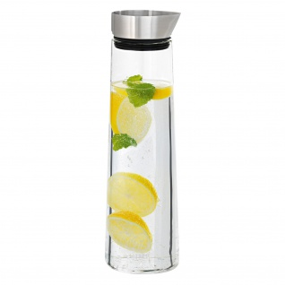 Blomus Wasserkaraffe ACQUA, Edelstahl matt mit Glas kombiniert, 1 Liter Inhalt
