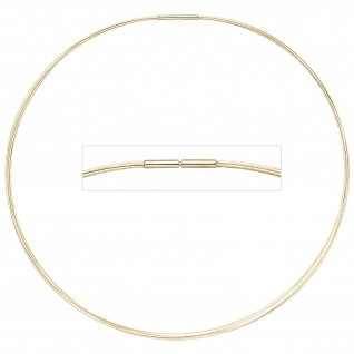 Halsreif 5-reihig 585 Gold Gelbgold 45 cm Goldkette Goldreif