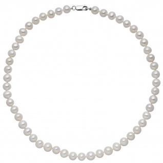 Kette mit Süßwasser Perlen und 925 Sterling Silber 42 cm Perlenkette
