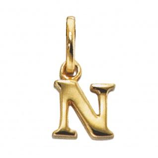 Anhänger Buchstabe N 333 Gold Gelbgold Buchstabenanhänger