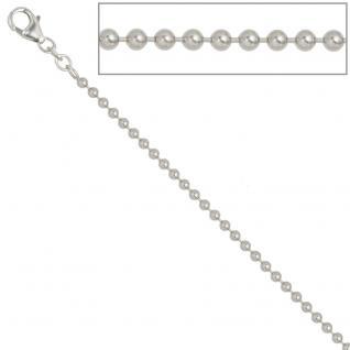 Kugelkette 925 Silber 2, 5 mm 60 cm Halskette Kette Silberkette Karabiner - Vorschau 3