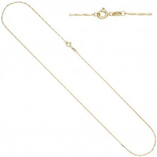 Haferkornkette 585 Gold Gelbgold 1, 2 mm 45 cm Kette Halskette Goldkette