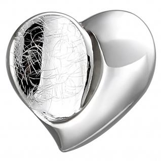 Anhänger Herz 925 Sterling Silber eismatt Herzanhänger Silberanhänger