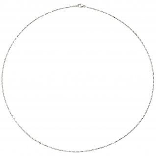 Collier Halskette 750 Gold Weißgold diamantiert 1, 0 mm 42 cm Kette Weißgoldkette