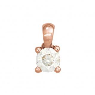 Anhänger 585 Gold Rotgold 1 Diamant Brillant 0, 15ct. Solitär Diamantanhänger