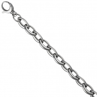 Armband aus Edelstahl 21 cm Karabiner