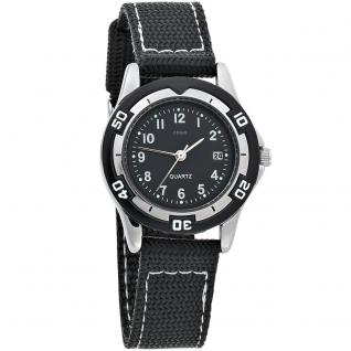 JOBO Kinder Armbanduhr schwarz Quarz Analog Messing Mineralglas Kinderuhr - Vorschau 1