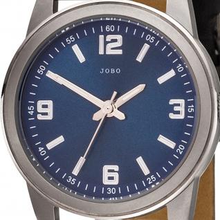 JOBO Damen Armbanduhr Quarz Analog Titan Lederband schwarz Damenuhr - Vorschau 2