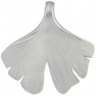 Anhänger Ginko Ginkgo 925 Sterling Silber mattiert
