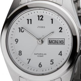 JOBO Damen Armbanduhr Quarz Analog Edelstahl Datum Damenuhr - Vorschau 2