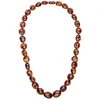 Kette Collier Bernstein Verlauf 60 cm Halskette Bernsteinkette Bernsteincollier
