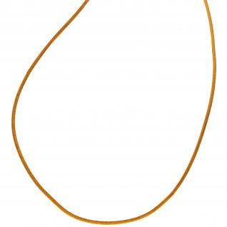 Lederschnur curry ca. 1 m lang Halskette Kette Leder - Vorschau 2