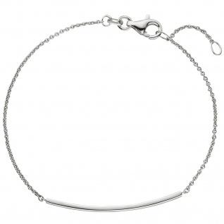Armband 585 Gold Weißgold 18 cm Weißgoldarmband - Vorschau 2
