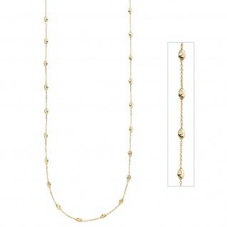 Collier Halskette 925 Sterling Silber gold vergoldet 80 cm Kette