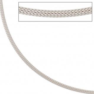 Strumpfkette 585 Gold Weißgold 43 cm Halskette Kette Goldkette Karabiner