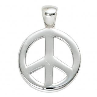 Anhänger Peace 925 Sterling Silber rhodiniert