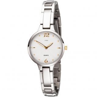 JOBO Damen Armbanduhr schmal Quarz Analog Titan Damenuhr mit schmalem Armband