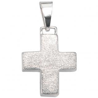 Anhänger Kreuz 925 Sterling Silber eismatt Kreuzanhänger Silberkreuz