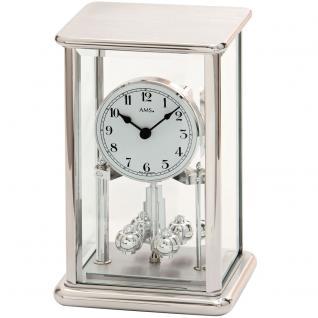AMS 1210 Tischuhr mit Drehpendel Jahresuhr Drehpendeluhr Quarz eckig mit Glas