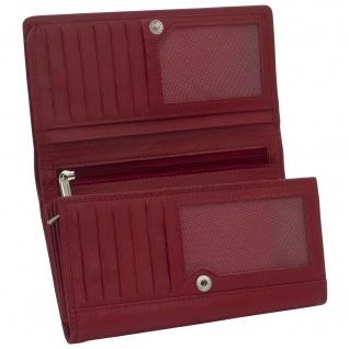 Friedrich Lederwaren Geldbörse MANDALA Nappa Leder rot RFID Schutz - Vorschau 3