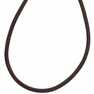 Leder Halskette Kette Schnur braun 100 cm