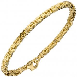 Königsarmband 333 Gold Gelbgold 19 cm Armband Goldarmband