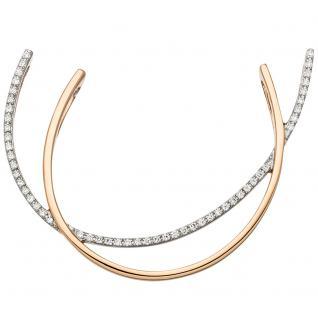 Anhänger 585 Gold Rotgold bicolor 52 Diamanten Brillanten Diamantanhänger
