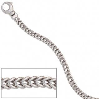 Armband 585 Gold Weißgold 19 cm Goldarmband Karabiner - Vorschau 3
