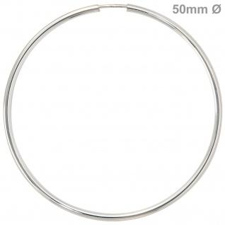 Creolen rund groß 925 Sterling Silber Ohrringe Durchmesser 50 mm