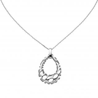 Collier Halskette Tropfen 925 Sterling Silber 45 cm Kette Silberkette