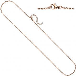 Halskette Edelstahl rotgold farben beschichtet 2, 2 mm 47 cm Kette