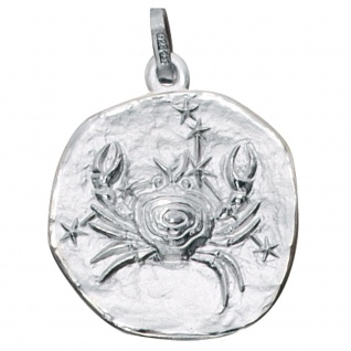 Anhänger Sternzeichen Krebs 925 Sterling Silber matt Sternzeichenanhänger