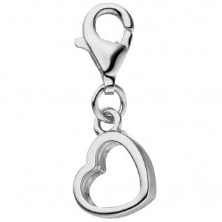 Einhänger Charm Herz 925 Sterling Silber