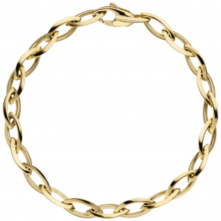 Armband 585 Gold Gelbgold 19 cm Goldarmband Karabiner - Vorschau 2