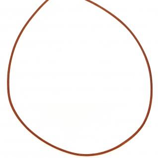 Lederschnur orange ca. 1 m lang Halskette Kette Leder - Vorschau 2