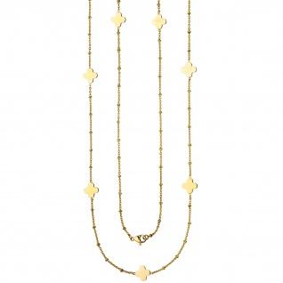 Halskette Edelstahl gold-farben beschichtet 90 cm